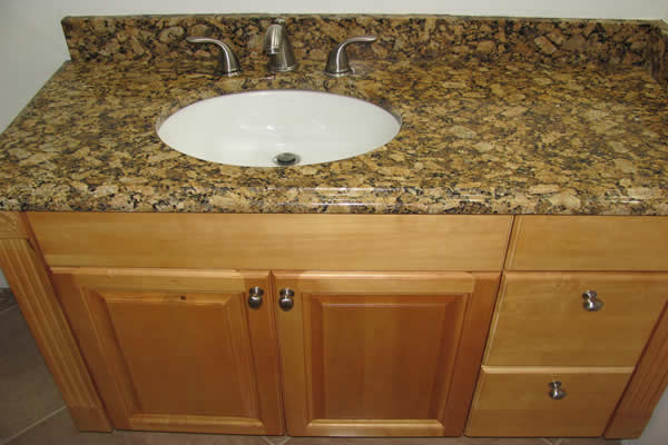 "All Wood ""Maple"" - Vanity - Granite Counter"
